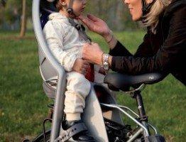 Fotelik rowerowy dla małego dziecka