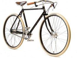 Klasyczny czarny rower męski Art deco Pachley Guv'nor