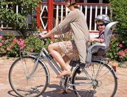 Bezpieczny fotelik rowerowy