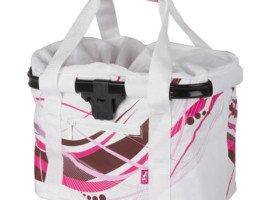 Torba rowerowa biało-różowa