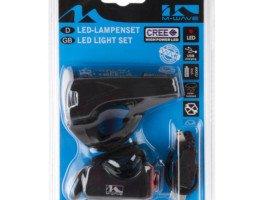 Zestaw lampek rowerowych led na USB