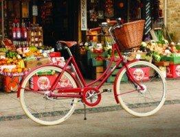 Czerwona damka rower miejski damski Pashley