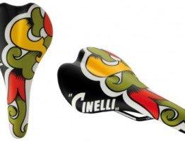 Siodełko rowerowe ze wzorkiem Cinelli