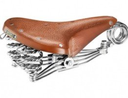 Brązowe siodełko rowerowe na sprężynach Brooks