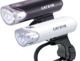 Lampka rowerowa przednia czarna biała Cateye
