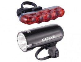 Oświetlenie rowerowe komplet przednie tylne cateye