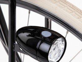 Przednia czarna lampka rowerowa