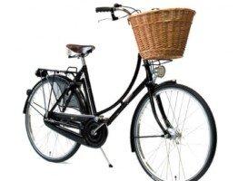 Klasyczny czarny rower miejski damski czarna damka Pashley