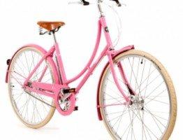 Różowa damka rower miejski Pashley