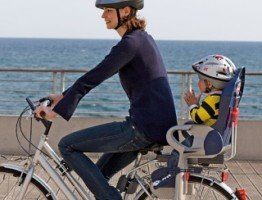Wygodny rowerowy fotelik dla dziecka